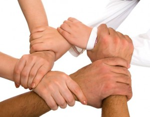 image for the what makes us different page hands locked together for strength